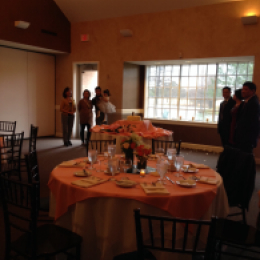 Peach table setting 1