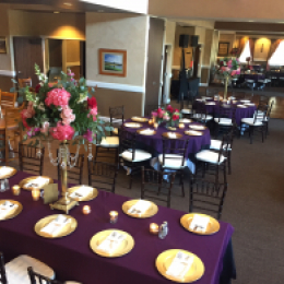 Purple themed tables